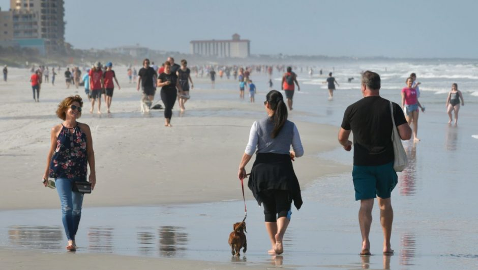 Florida begins reopening beaches amid coronavirus crisis, and people are enthusiastically flocking