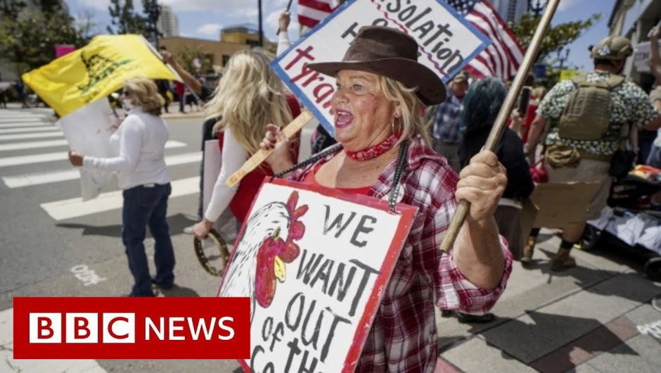 Coronavirus: US protests against and for lockdown restrictions – BBC News