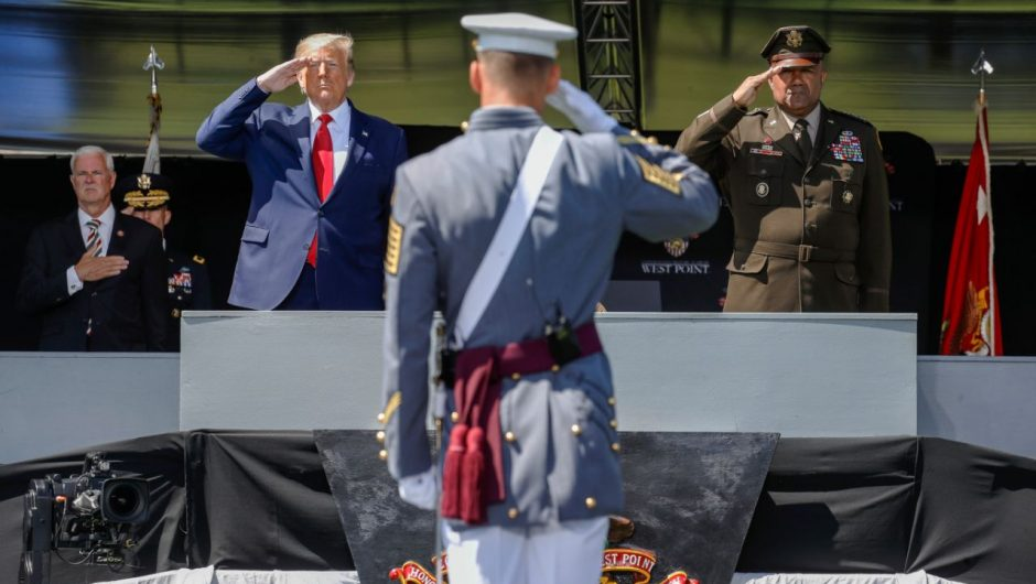 Trump touts 'unity' in socially distant speech to West Point graduates amid racial tensions, coronavirus fears