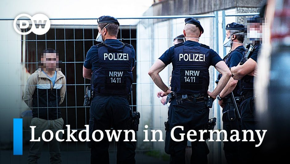 400,000 forced into lockdown after local COVID-19 outbreak in Germany | DW News