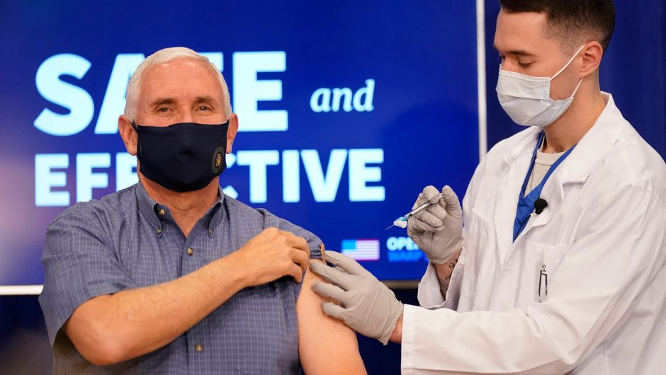 Vice President Pence receives COVID-19 vaccine