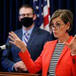 The governor of Iowa lifted mask-wearing restrictions despite a new coronavirus variant in the state