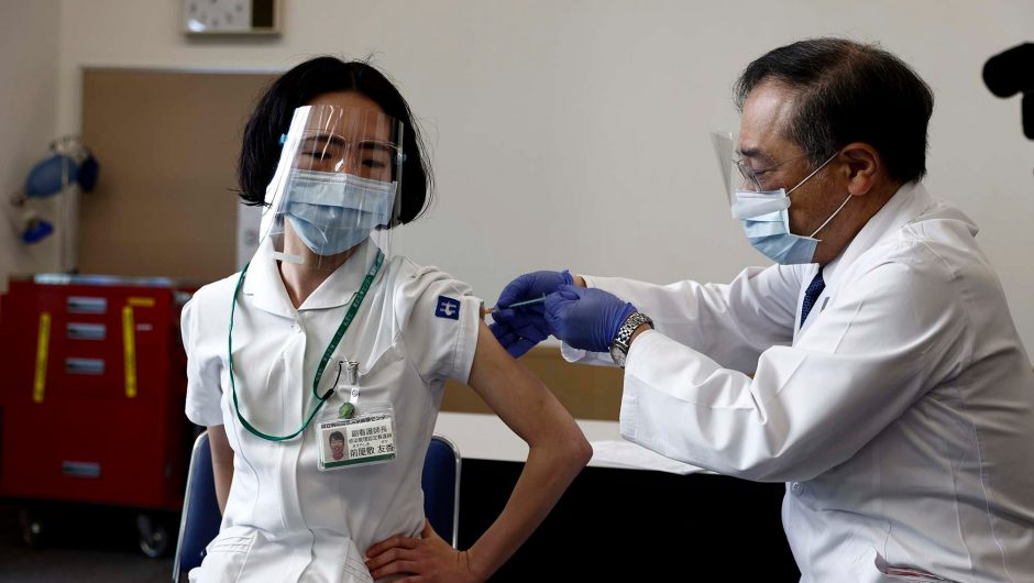 Japan starts COVID-19 vaccinations with eye on Olympics