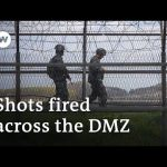 North and South Korea exchange gunfire across demilitarized zone   DW News