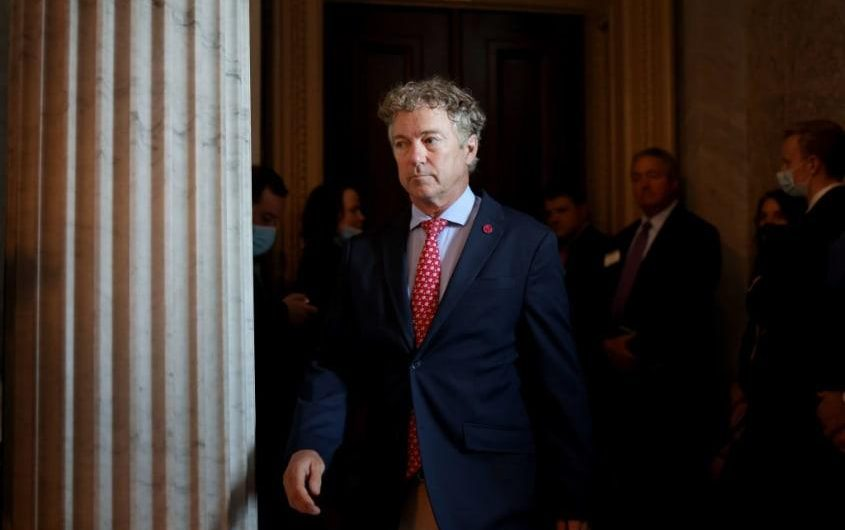 Rand Paul discloses, 16 months later, wife's purchase of stock in company behind COVID-19 treatment